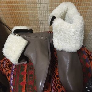 Kate Spade boots with shearling fur
